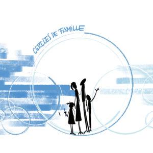 Illustration cercles de famille Illustration psychologue psychotherapeute © Fréderic Debailleul- www.alaracine.com